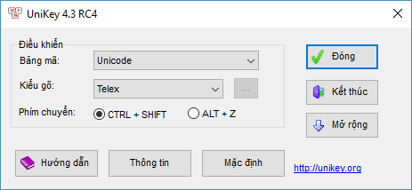 phần mềm gõ dấu trên laptop